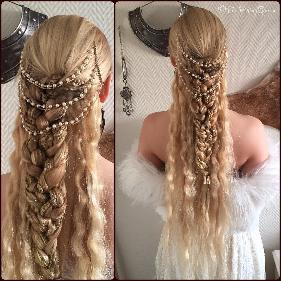 Sol Geirsdottir On Instagram Styled By She Inspired By The Energy Of Froya Vikingqueen Regalviking V Elven Hairstyles Medieval Hairstyles Hair Styles