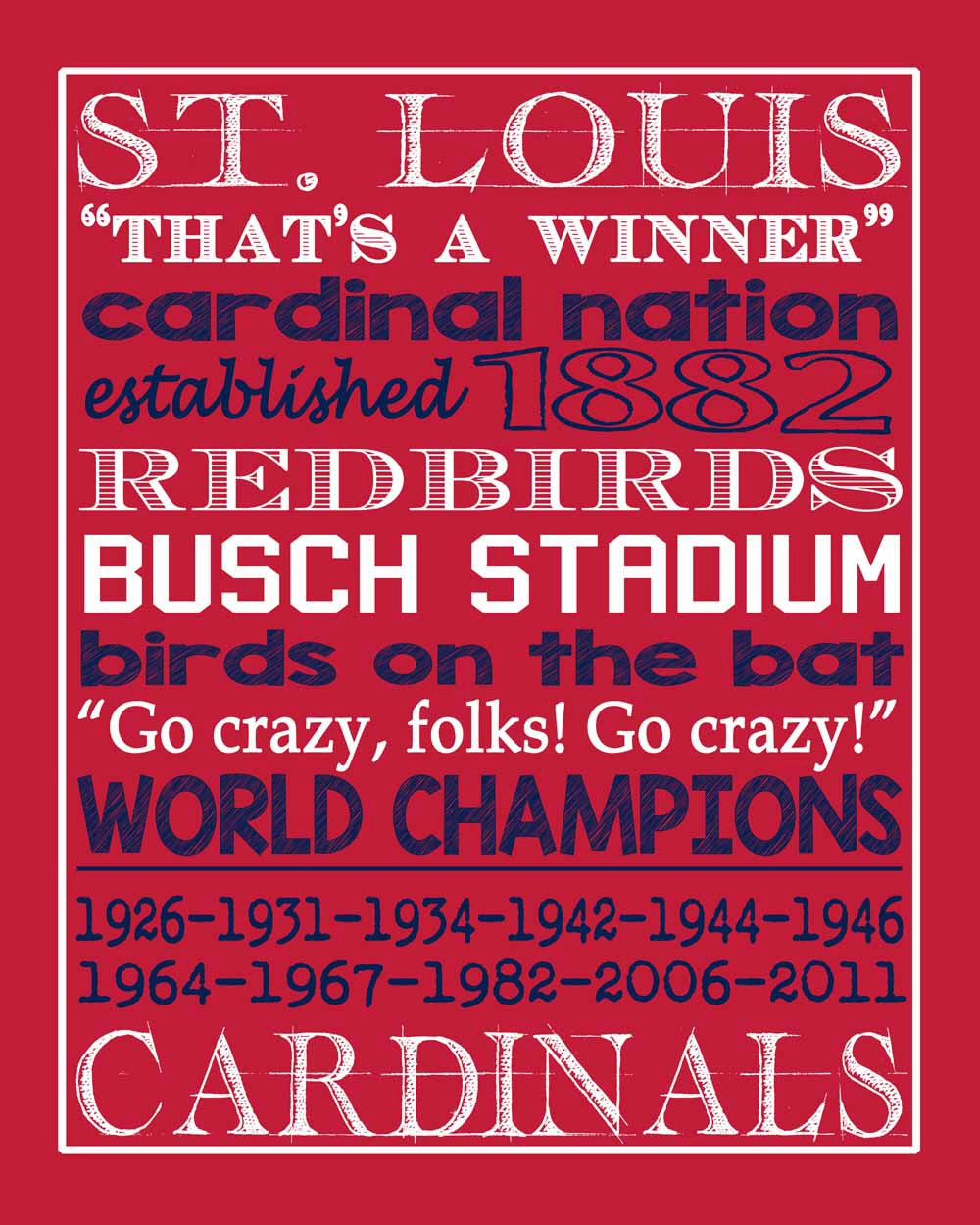 St Louis Cardinals Color Book
