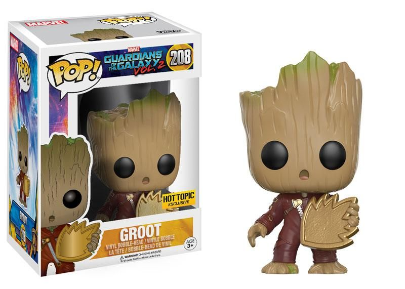 Funko Pop Hot Topic Marvel exclusives Guardian of the Galaxy Dancing Groot Figure