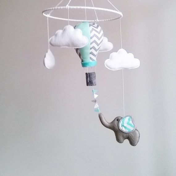 Baby Crib Mobile Air Balloon Nursery Kit