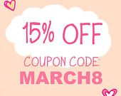 WEEKEND SALE 15% off on all items using coupon code MARCH8 at Mijbil Creatures