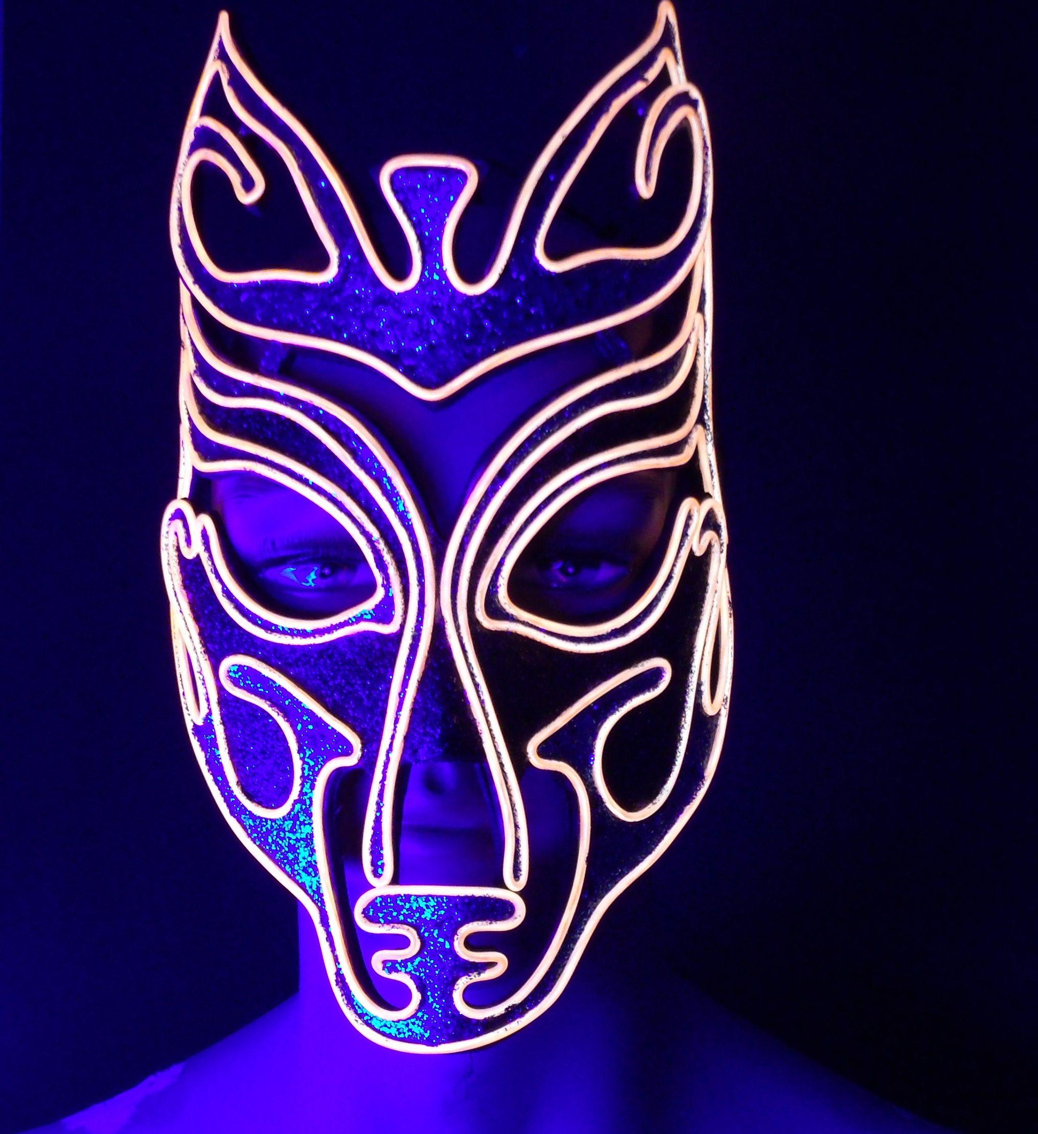 EL wire mask for DJ in new England | JWR Designs (qitawear.com ...