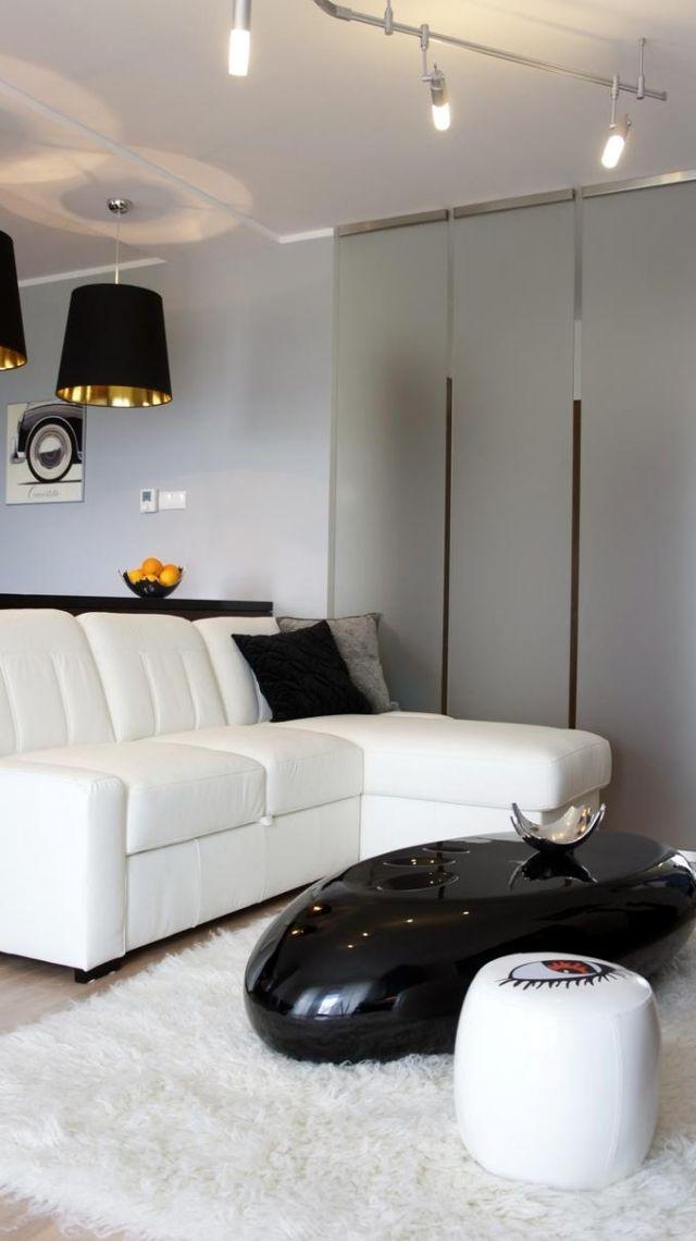 wohnzimmer-modern-schwarz-weisse-designer-moebel u2022 ROOM - wohnzimmer modern schwarz weis