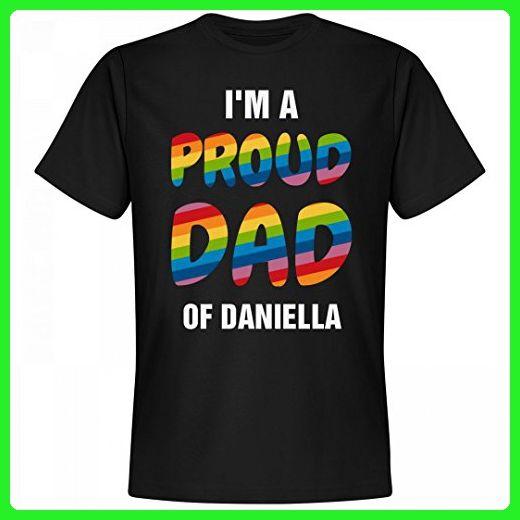 Gay Pride Proud Dad Of Daniella: Unisex Next Level Premium T-Shirt - Relatives and family shirts (*Amazon Partner-Link)