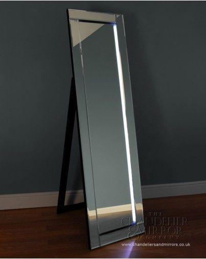 barelo a chic full length free standing mirror with bevelled glass frame and velvety black felt. Black Bedroom Furniture Sets. Home Design Ideas