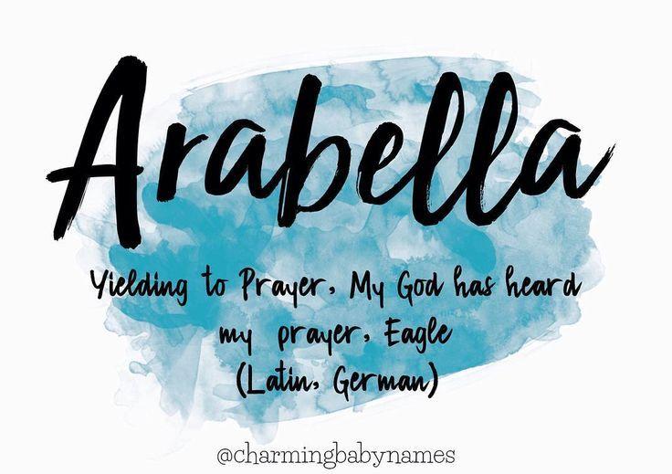 Arabella #babygirlnames