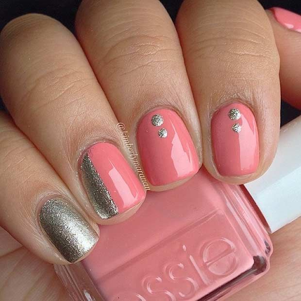 Ideas For Short Nails Easy Nail Art: 69 Super Easy Nail Designs