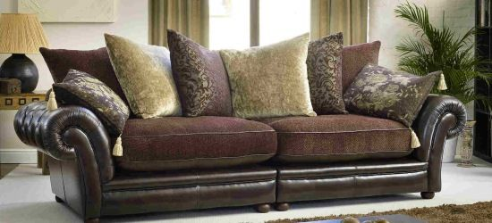 Living Room Ideas Leather And Fabric