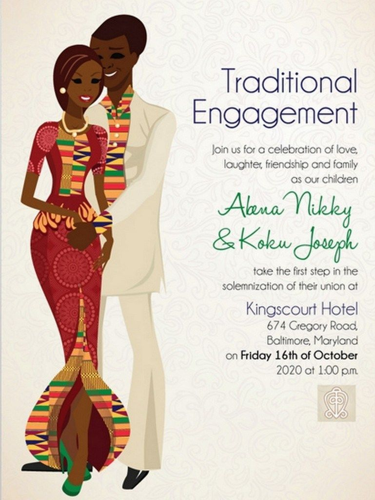 10 African Wedding Invitations Designed Perfectly!   Africans ...