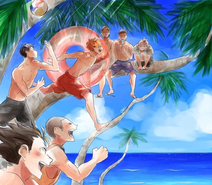 Las mejores versiones de Haikyuu! 🏐🏐🏐 - Haikyuu en la playa 🏝🏝🏝
