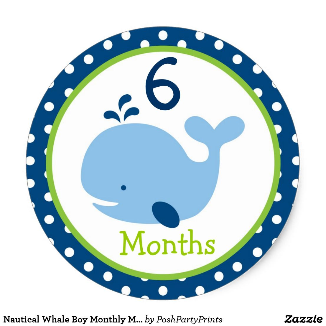 Nautical whale boy monthly milestone stickers monthly baby milestone scrapbooking album month classic round sticker mod pink elephant monthly milestone