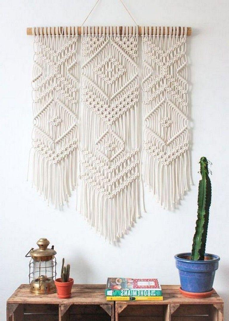 45 Inspiring Cool Wall Hanging Decor Ideas Without Spending Money Decoration Decoratingideas Homedecorid Macrame Wall Art Macrame Design Weaving Wall Decor