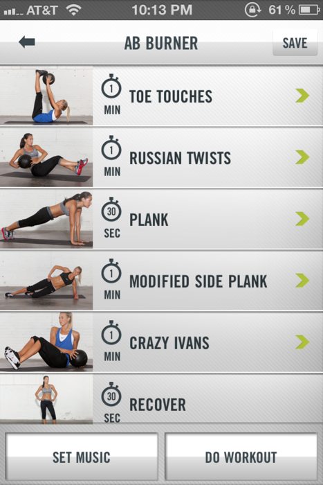 263e649b5e9 Nike Training Club App.... I do one of the many 45 min workout sets every  morning. Like having a personal trainer!!!! Video clips on each exercise  and ...