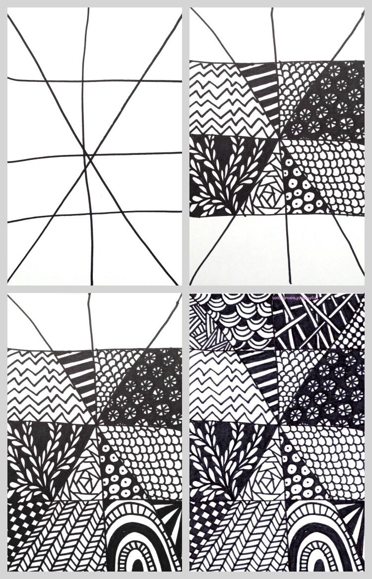 Super Quick And Easy Zentangle Project