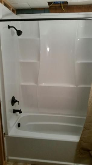 Delta Clic 400 32 In X 60 3 Piece Direct To Stud Tub Surround High Gloss White 40044 At The Home Depot Mobile