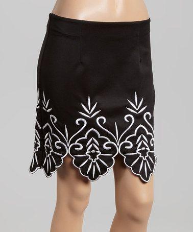 Love this Black Embroidered Miniskirt on #zulily! #zulilyfinds