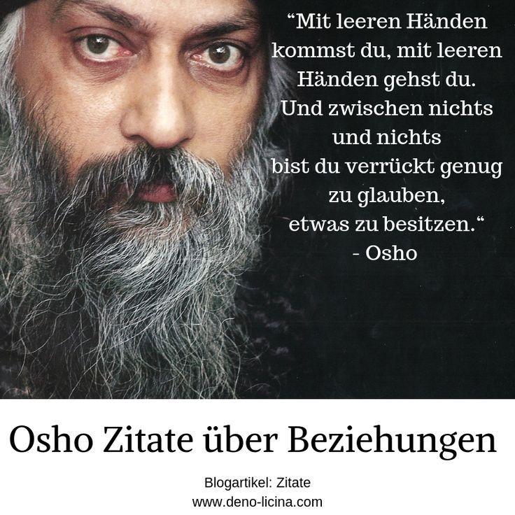 Osho Zitate über das Thema Beziehungen