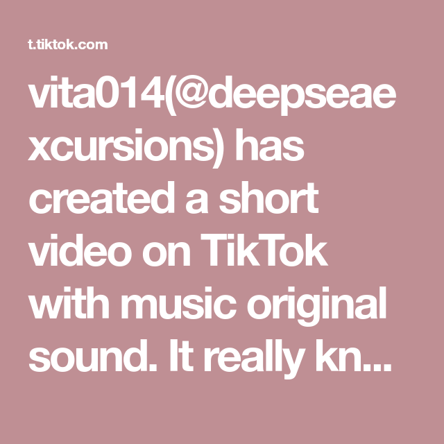 Vita014 Deepseaexcursions Has Created A Short Video On Tiktok With Music Original Sound It Really Knows How To Hide Itself Lobsters Fyp Foryou