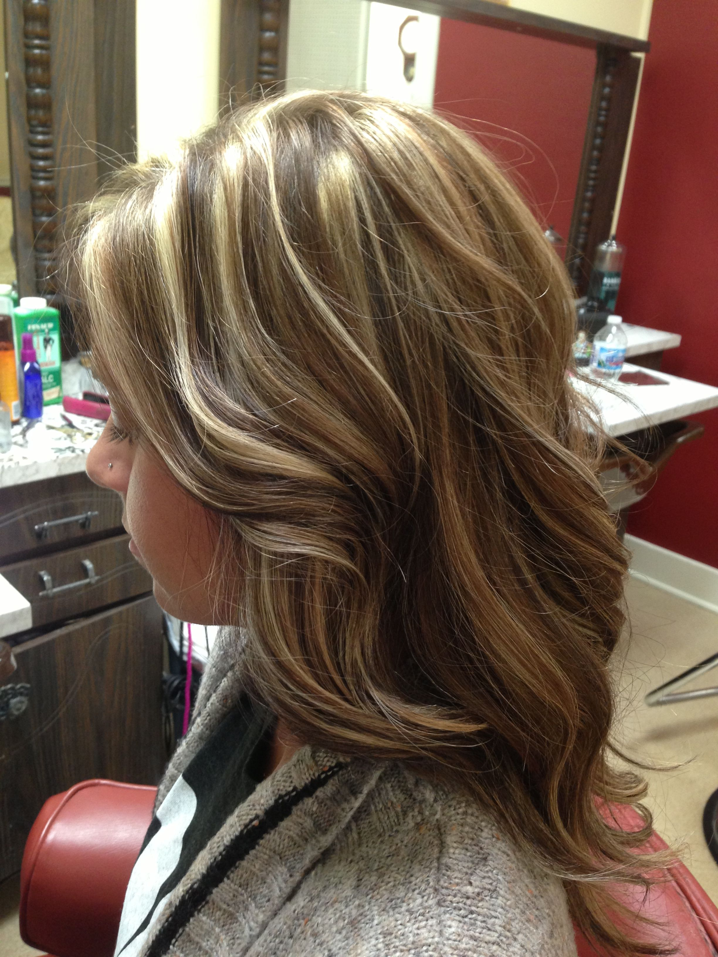 Highlight lowlight caramel hair pinterest caramel