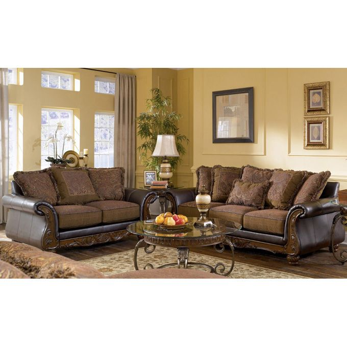 Outstanding Ashley Wilmington Two Piece Sofa Set With Sweeping Rolled Home Interior And Landscaping Palasignezvosmurscom