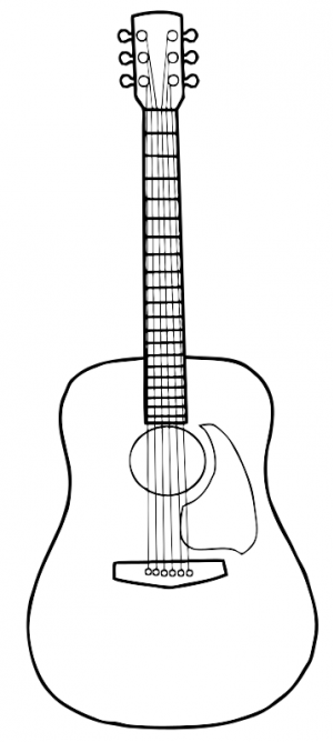 Acoustic Guitar Drawing Google Search Sketch Pinterest
