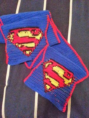Bufanda Superman - Patron Libre | bufandas | Pinterest | Patrones ...