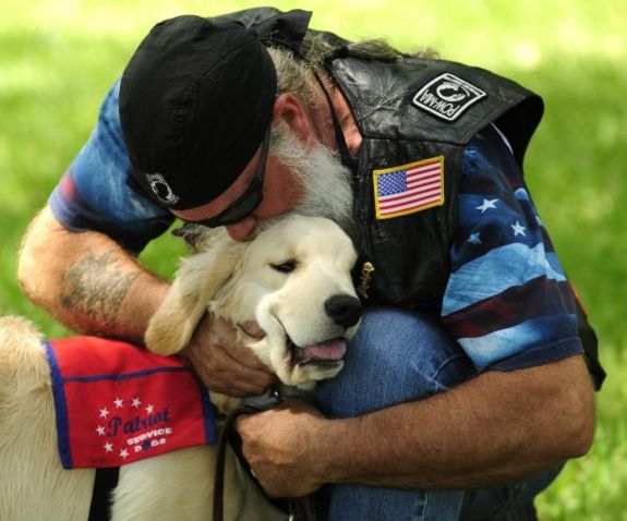 Service dog for wounded warriors