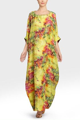 Josie Natori Couture Mist Caftan