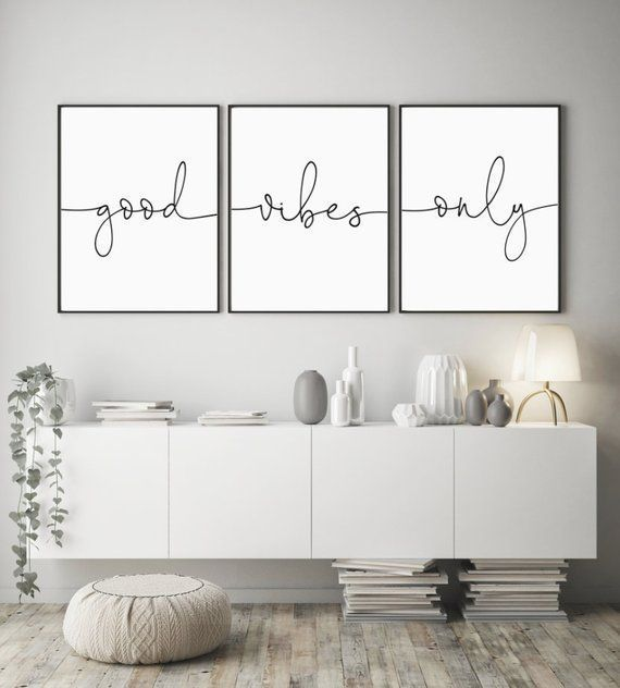 Good Vibes Only Sign Set, Living Room Quote Decor, Bedroom Print, Matching Printables, Living Room Wall Art Decor, Instant Digital Download, #Art #bedroom #Decor #Digital #Download #Good #Instant #Living #Matching #Print #Printables #quote #room #Set #Sign #Vibes #Wall