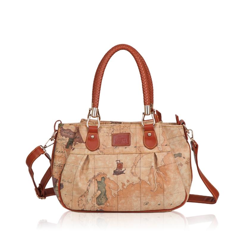 56.03$  Buy here - http://aliefc.worldwells.pw/go.php?t=32476567640 - B . fashion vintage angel2015 brief map pack cross-body handbag women's bags 796 56.03$