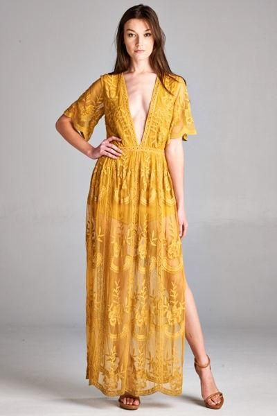 Merinda Embroidered Lace Maxi Dress Products En 2019