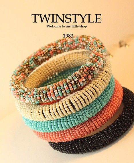 Pastel Beads Bracelets - Pulseras de cuentas color pastel