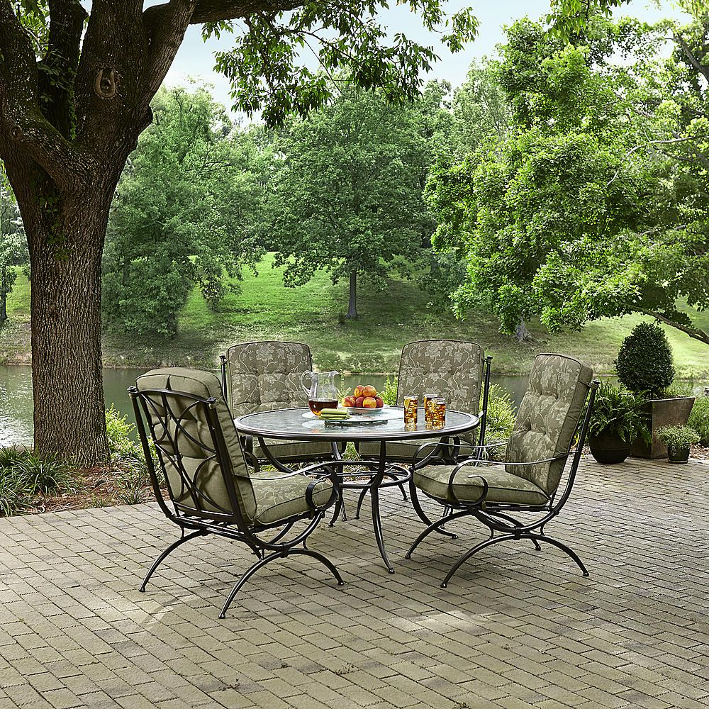 Jaclyn Smith Today Cora 4 Dining Chairs- Green - Outdoor