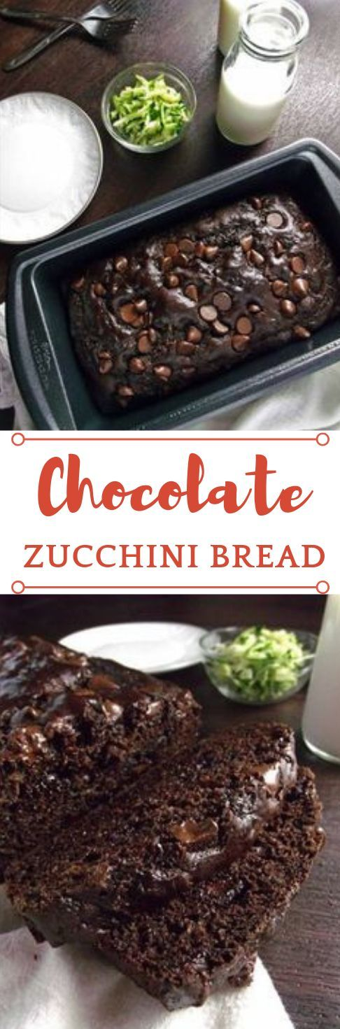 HEALTHY CHOCOLATE ZUCCHINI BREAD   - Delicious Cookies & Cake -