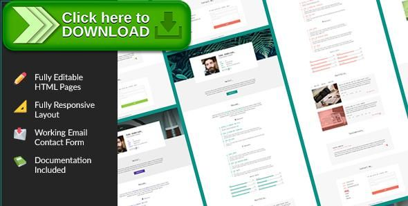 Free nulled SpirIT u2014 Portfolio \ Resume HTML Template for - free resume html template