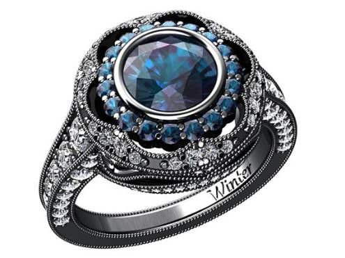 26 most beautiful alexandrite rings from etsy - Alexandrite Wedding Ring