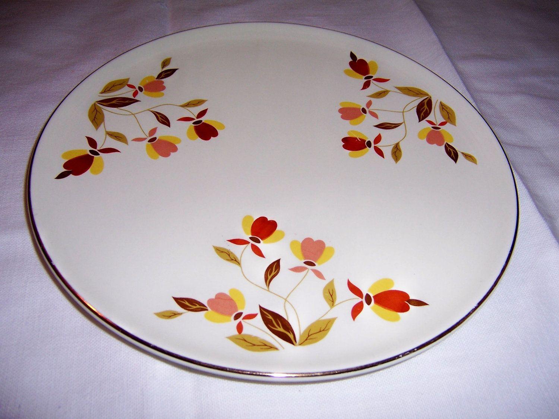Jewel Tea Autumn Leaf Cake Plate By Hall China Jewel Tea Dishes Cake Plates Cake Plates Stand