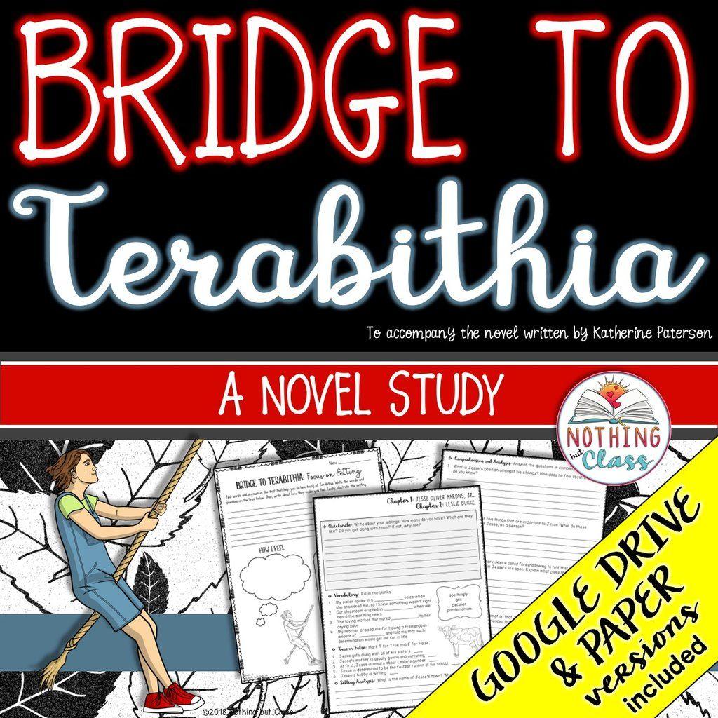 Bridge To Terabithia Novel Study Unit In