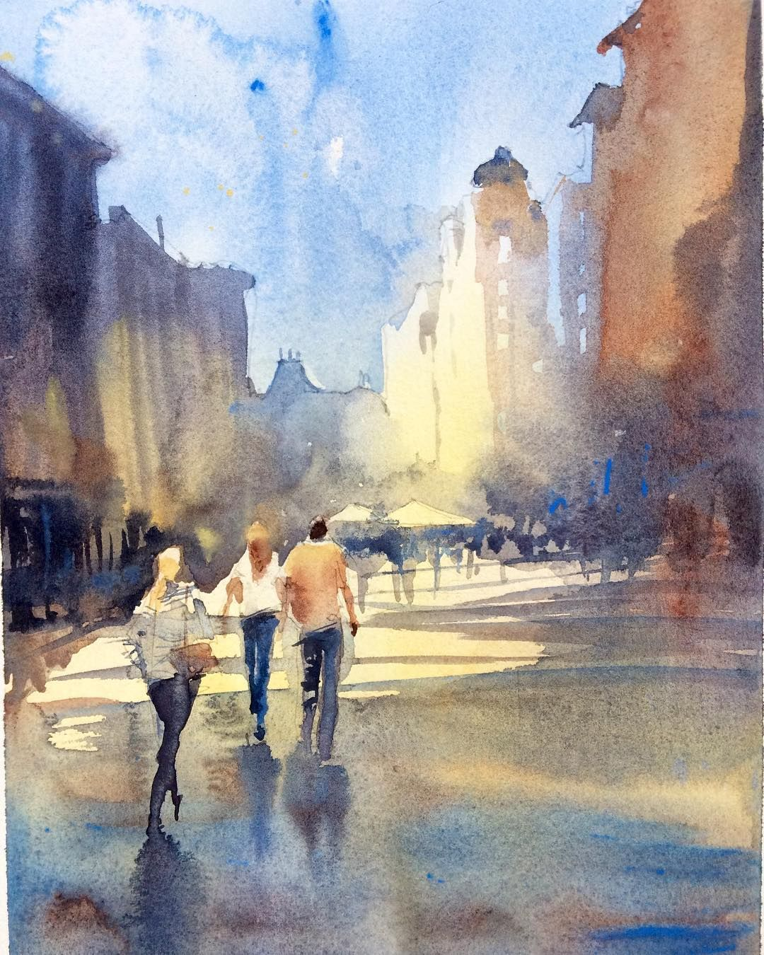 Irena Spector On Instagram London Watercolor Art Spotlight