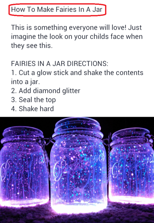 Fairies In A Jar Yellow Glow Sticks And Gold Or Silver Glitter For Centerpieces Maybe Maddisonpaige Fairy Jars Diy Crafts For Girls Fun Diy Crafts