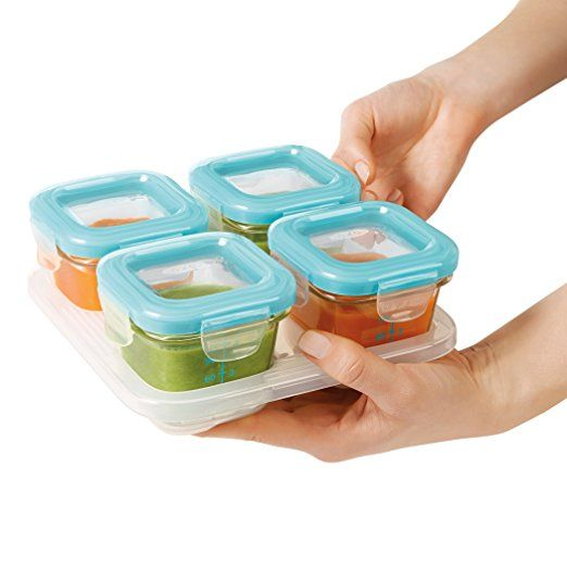 Charmant Amazon.com : OXO Tot Glass Baby Blocks Freezer Storage Containers   4 Oz,