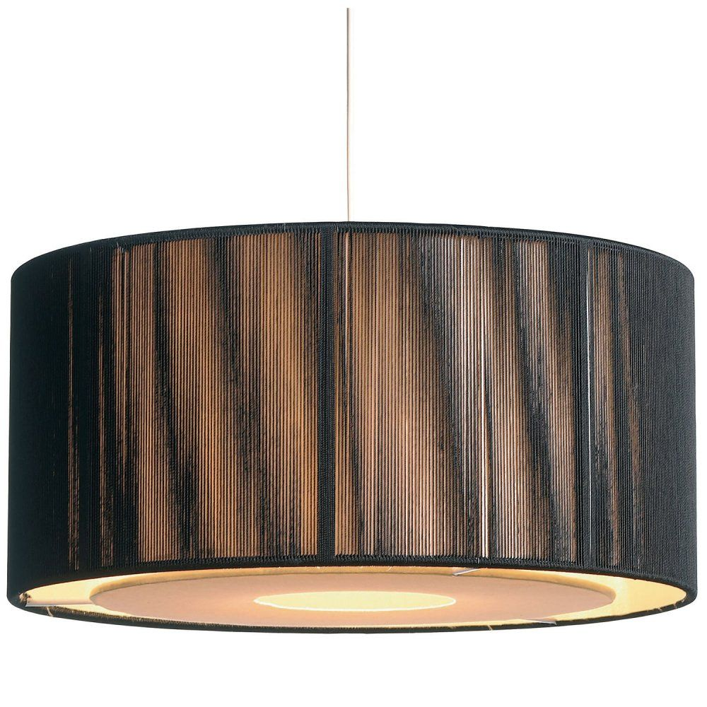Easy Fit Black Gold Ceiling Light Shade Drum Shaped Modern