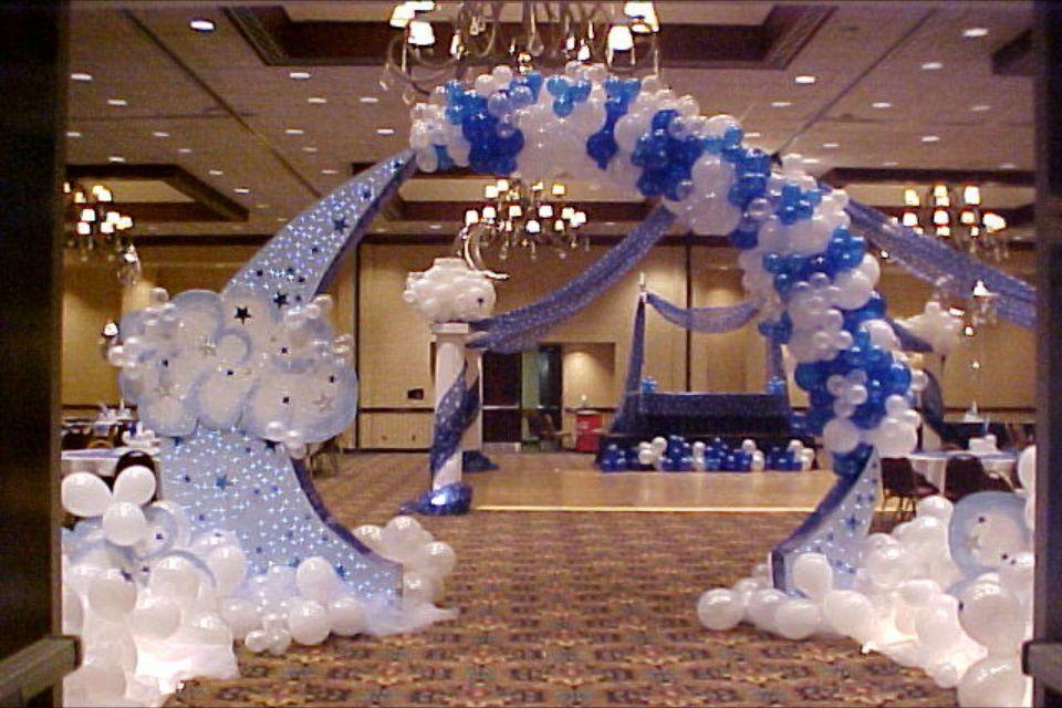 Moon & star balloon entryway  Ballon decorations, Balloon