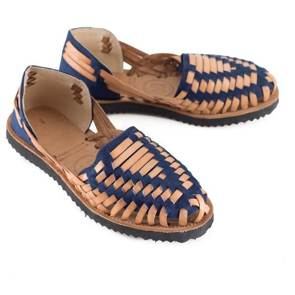 70150f20efd32 Women s Navy Woven Leather Huarache Sandals - Ix Style - Water For Children