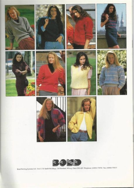 Bond Knitting Machine Pattern Book Knits For Beginners Knitting