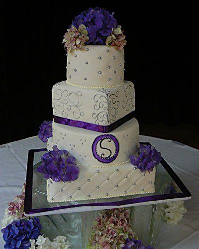 Purple And Silver Cakes | Matt & Doms custom wedding cakes ...