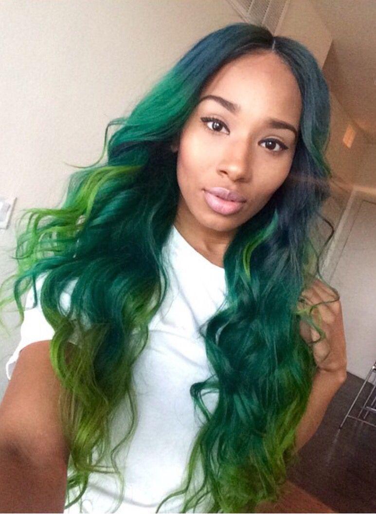 pinterest: @jalissalyons   Hair   Pinterest   Hair coloring, Green ...