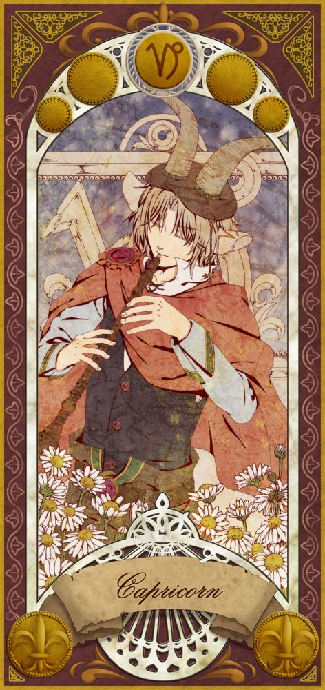 Capricorn (Pixiv Id 1702335) Trading cards Zodiac