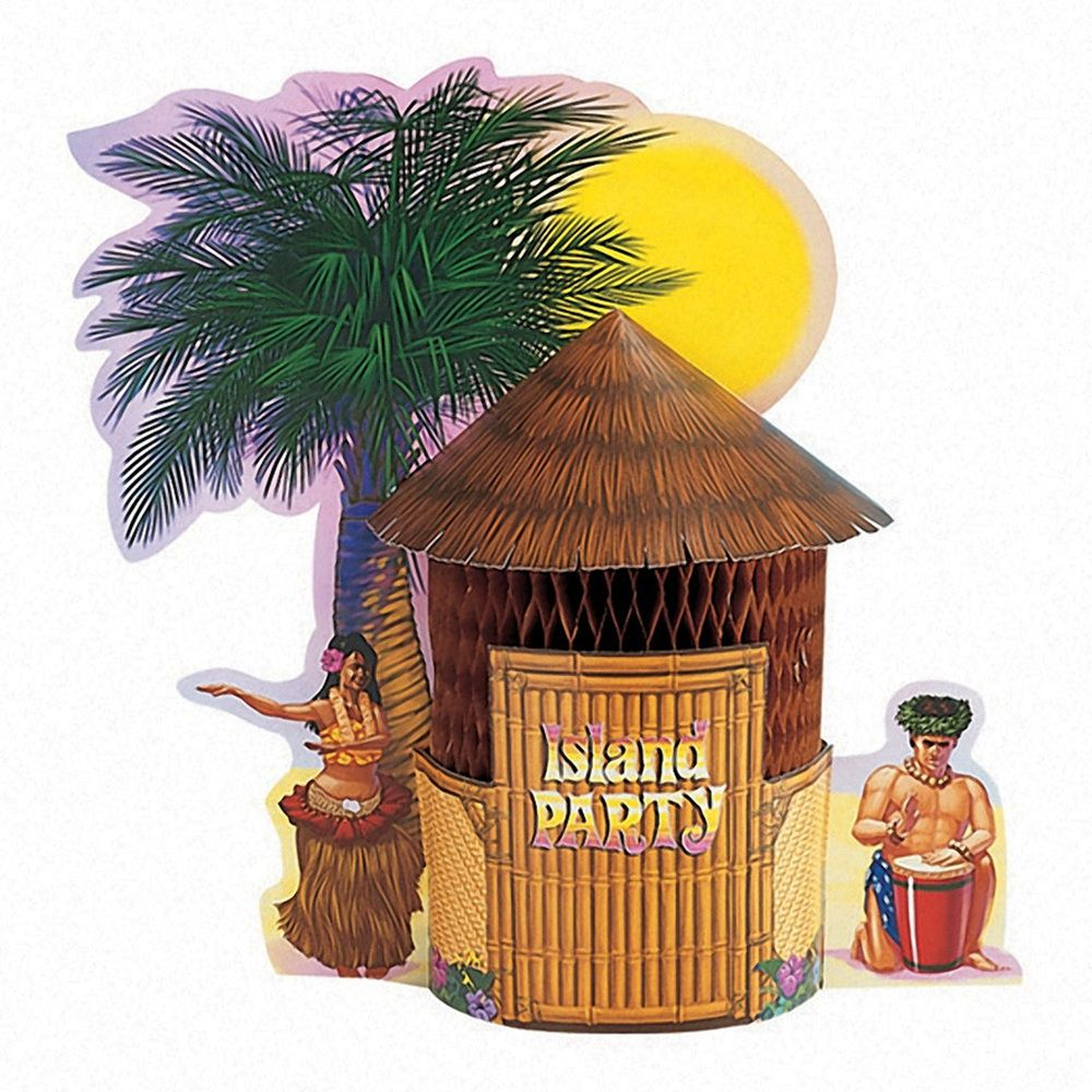 Tiki Hut Honeycomb Centerpiece/Case of 6 Tags:  Honeycomb Centerpieces; Party Decorations; party centerpieces;party centerpiece decorations;honeycomb centerpieces; https://www.ktsupply.com/products/32786323161/Tiki-Hut-Honeycomb-CenterpieceCase-of-6.html