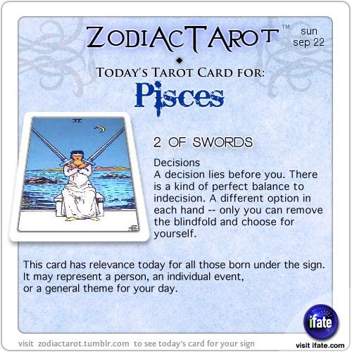 daily tarot card for pisces
